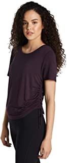 Rockwear Activewear Women's Magnolia Ruch Side Tee BlackBerry 14 from Size 4-18 for T-Shirt Tops