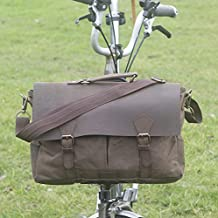London Craftwork New Brompton Exclusive Handcrafted Messenger Bag in Olive Brown for S/M/H/P Handlebars Brompton Luggage