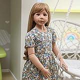 Reborn Dolls Poupée Rebirth 47inch 120cm Simulation Reborn Toddler Silicone Vinyl Girl with Long...