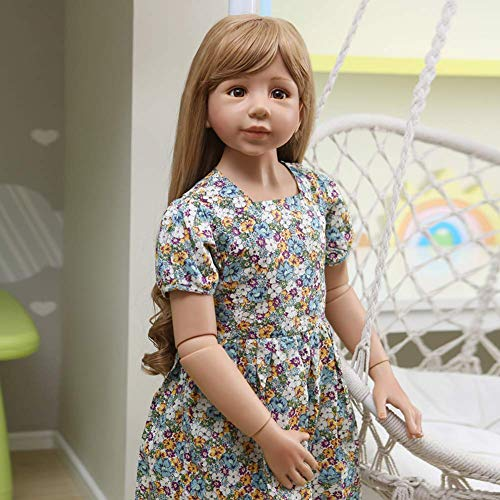 Reborn Dolls Poupée Rebirth 47inch 120cm Simulation Reborn Toddler Silicone Vinyl Girl with Long Hair Modèle d'usure pour Enfants Enfants Adultes Accompagner Poupée