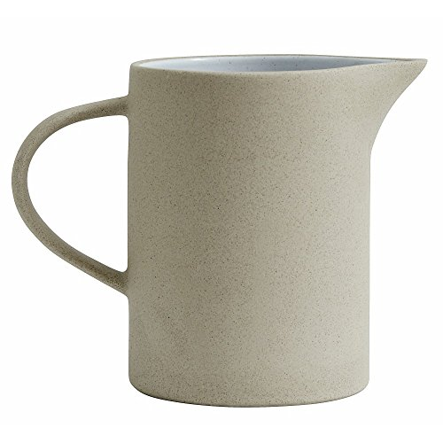Nordal Stoneware Pitcher, beige/White