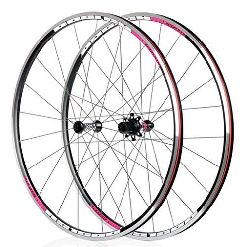 XCZZYC Radfahren Racing Rennrad Laufradsatz 700C Alu V Bremse 8 9 10 11-Gang-Schnellwechselkassette Doppelwandig