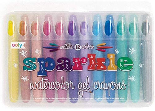 OOLY, Rainbow Sparkle Metallic Watercolor Gel, Art Supplies - Set of 12