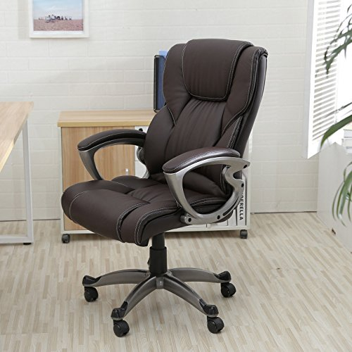 Alek...Shop New Chair Executive Pu Leather Office Seat Desk Adjust High-Low Style Task Ergonomic Computer Desk