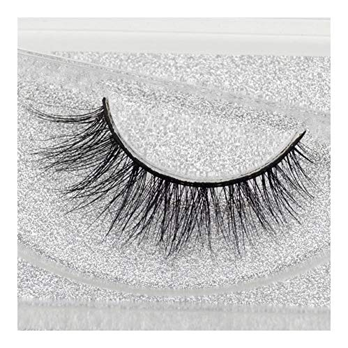 Czyu. Mink Falsche Wimpern Classic Collection Ober Lashes Natural & Leichte Mink Lashes 1 Paar Glitter A03 Verpackung (Color : A04)