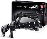 Bloques de Construcción Technic Modelo de Pistola, 1061 + Piezas Juego de Construcción de Arma-Rifle Compatible con Lego Technic
