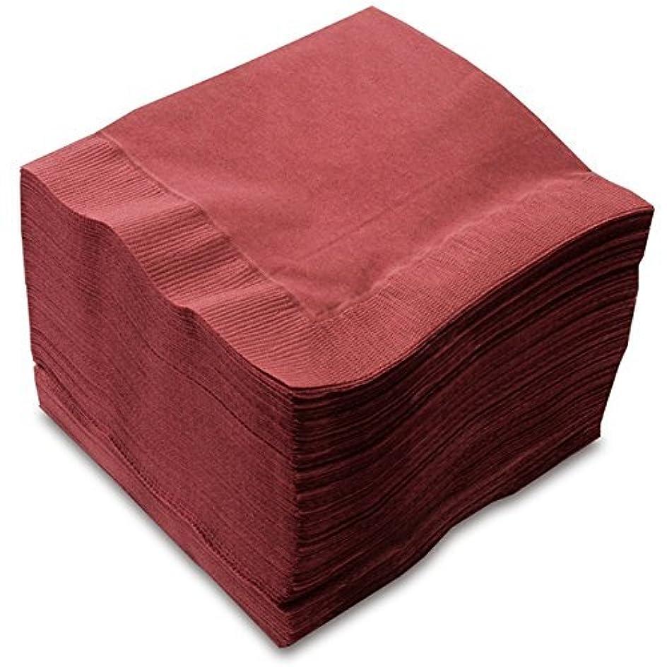 公式ひそかに石化するカラー4折2プライペーパーナプキン「ワインレッド」(50枚)