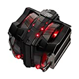 Cooler Master V8 GTS High Performance CPU Cooler, Horizontal Vapor Chamber, 8 Heatpipes, Aluminum Fins, Dual 120mm Fans, Red LED, AMD /Intel LGA1200/1151/2066