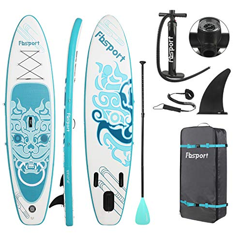 FBSPORT Tabla Sup Hinchable, Tabla de Surf Hinchable, Tabla Inflable de Paddle Surf, Sup Kit con Remo de Aluminio+Accesorios Completos | Medidas: 320×78×15cm