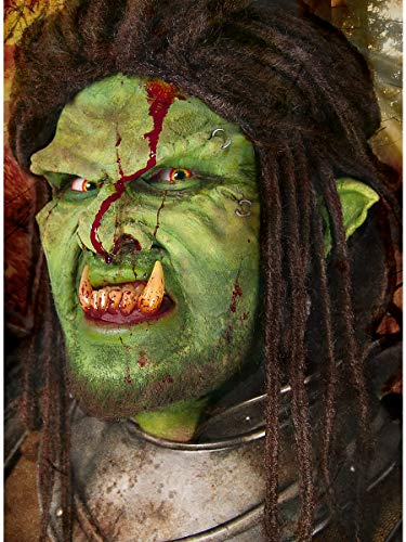 Maskworld Kleine grüne Orkohren aus Latex mit Mastix Hautkleber - Latexohren für Halloween Karneval Motto-Party & Fantasy Kostüm-Accessoire