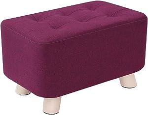 Dall Fußhocker Polsterhocker Schuh Bench Modernes Zuhause Massivholz Sofa Hocker Abnehmbare Wäsche Rutschfest 40 × 40 × 25 cm (Farbe : T5)