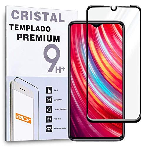 Protector de Pantalla Curvo para XIAOMI REDMI Note 8, Negro, Cristal Vidrio Templado Premium, 3D / 4D / 5D