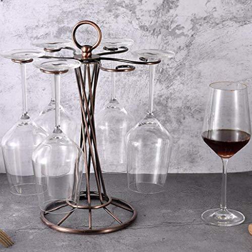 Tenedor De Copa De Vino Al Revés para El Hogar Que Cuelga El Gourmet Hierro De Hierro del Vino Soporte De Vidrio Portátil Organizar Almacenamiento Cocina