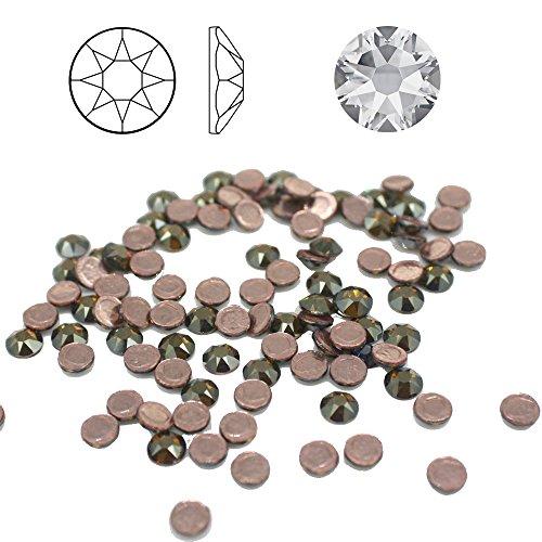 Christoph Palme 100 Stück SWAROVSKI 2078 (001BRSH) Strass-Steine ø 4mm SS16 Hotfix zum aufbügeln Glitzersteine Schmucksteine Bastelsteine Bronze Shade