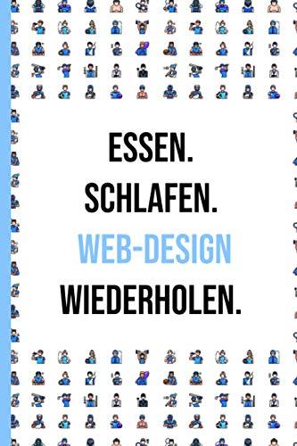 Web-Design Notizbuch: Matte finished Notizen Gefüttert Journal - Notizen-System für Frauen Männer Teen Mitarbeiter oder Schulfreund | 6x9 inch - 120 Seiten