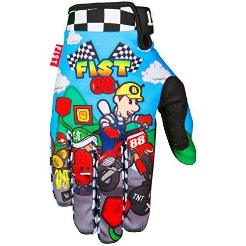Fist - Guantes de mano para niños, diseño de Caroline Buchanan con puños 68 XS para BMX Mtb Dh Downhill Mx Motocross Enduro