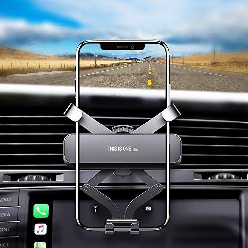 POOPHUNS Supporto Smartphone 360 Gradi di Rotazione Porta Telefono Auto Universale Gravity Car Phone Holder per iPhone, Galaxy, Huawei, Xiaomi e GPS Dispositivi