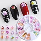 MUUZONING Decoraciones de Arte de Uñas 3D Adornos Uñas Acrilicas Diamantes Brillantes de Cristales Gemas Coloridas Perlas para Uñas #7