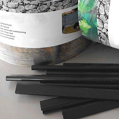 Klemmschienen passend zu Sichtschutzstreifen | schwarz | Inhalt: 25 Stück / Packung