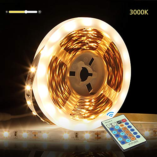 InnooLight 5m LED Strip, 300 LEDs Selbstklebend SMD 2835 LED Lichterkette mit 24-Tasten Fernbedienung, warmweiss led band als LED Streifen, LED Leiste, LED Lichtschlauch, LED Stripes