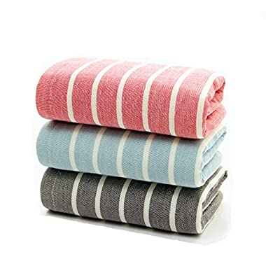 Cotton Gause Muslin Hand Towels(3 Pack,16  x 28 ) - Absorbent Durable Towels for Home and Outdoor Use