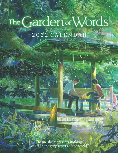 2022 Calendar: The Garden of Words Calendar 2022 18-month from Jul 2021 to Dec 2022 in mini size 8.5x11 inch