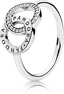 Pandora Women's Sterling Silver Cubic Zirconia 925 Silver Ring, 7 US - 196326CZ-54