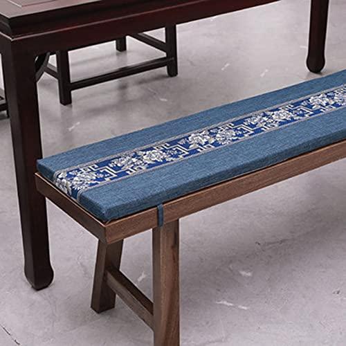 KicKiq - Cuscino per panca da pranzo rettangolare a 2/3 posti, spessore rimovibile, con cerniera, per panca da giardino (stile 3,70 x 40 x 5 cm)