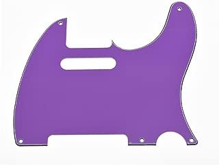 KAISH 5 Hole Vintage Tele Guitar Pickguard Scratch Plate fits USA/Mexican Fender Telecaster Purple 3 Ply