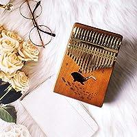 カリンバ17キーサムピアノウッドマホガニーアカシアウッドボディ楽器カリンバピアノオルゴールボックス Ztoyby (Color : A)