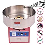 WYZworks Commercial Cotton Candy Machine with Built in Music Box - Electric Party Candy Floss Maker - 6 Servings per Min