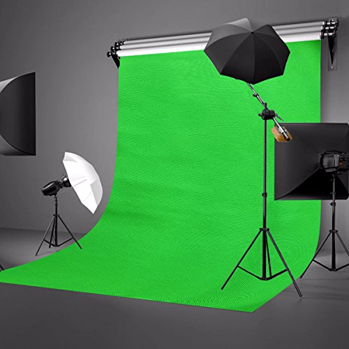 LYLYCTY Background 5x7ft Non-Woven Fabric Solid Color Green Screen Photo Backdrop Studio Photography Props LY063