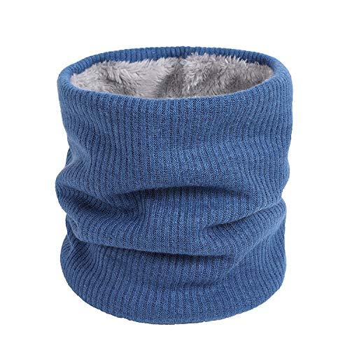 QKURT Scaldacollo invernale, sciarpa scaldacollo foderata in pile lavorato a maglia termica unisex per camminare all'aperto sciare all'aperto