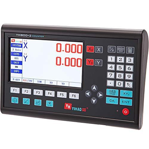 VEVOR 2 Achsen LCD Digitalanzeige DRO 11,2 x 3,6 x 7,1 Zoll, Digital Anzeige Drehmaschine Fräsmaschine Linear Encoder AC 80-260 V Gravierfräsmaschinen-Steuerungssystem Bedienfeld Steuerplatine Zubehör