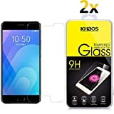 [2-Pack] for Meizu M6 Note Screen Protector, KHAOS Tempered Glass Screen Protector Ultra Clear Scratch Resistant for Meizu M6 Note