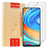[3-Pack] PULEN for Xiaomi Redmi Note 9S and Redmi Note 9 Pro Screen Protector,HD Clear Scratch Resistance Bubble Free 9H Hardness Tempered Glass
