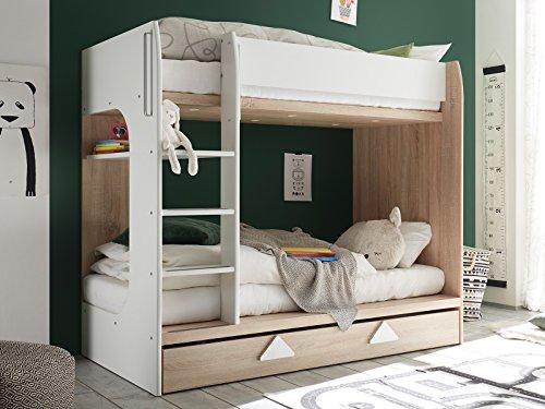 möbelando Etagenbett Kinderbett Hochbett Stockbett Jugendbett Holzbett Bett Mira I