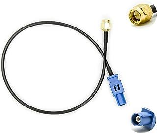 Vecys Adaptador Fakra Adaptador SMA Cable Antena GPS Fakra C a Conector SMA RG174 30 cm 11,8 Pulgadas para El Automóvil Mó...