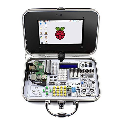 ELECROW Crowpi Raspberry Pi 4 3 b 3b+ 4b+ Kit Raspberry Pi Learning Programming Kit with Sensors - Advanced Version
