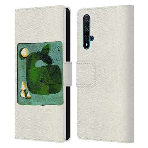 Head Case Designs Licenciado Oficialmente Wyanne Monoprint de Ballena Verde Animales 2 Carcasa de Cuero Tipo Libro Compatible con Huawei Nova 5T