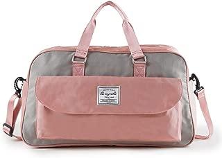 Travel Luggage Bag, Handbag Carry, Foldable Duffle Bag, Sports Gym Bag, Portable Handbag, Adjustable Shoulder Strap, Overnight Camping, (Color : Pink)