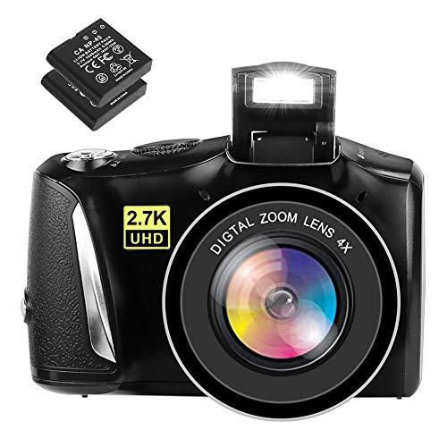 Digitalkamera Fotoapparat Digitalkamera 48MP 2,7K Kompaktkamera 3,0-Zoll-Bildschirm Digitalkameras mit 2 Batterien