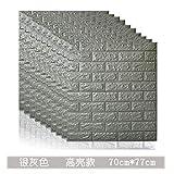 Hode Papel Adhesivo para Muebles Ladrillo Gris 40cmX5m Papel Pintado Vinilo Pegatina para Muebles Cocina Impermeable Decorativa Autoadhesivo