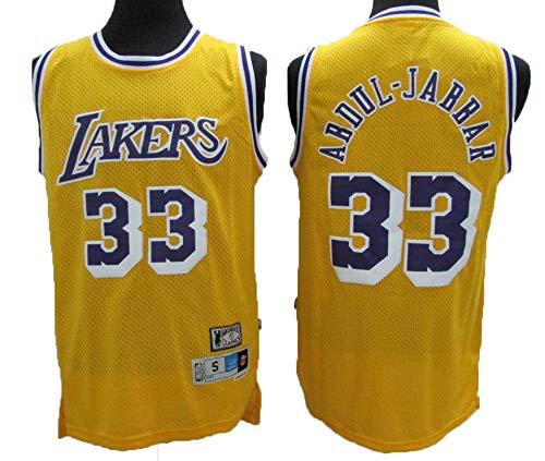 Camiseta NBA Lakers 33# Kareem Retro All-Star De Jersey para Hombre, Tela Fresca Y Transpirable, Camiseta De Baloncesto para Mujer De Shorts De Baloncesto,M:175cm/65~75kg