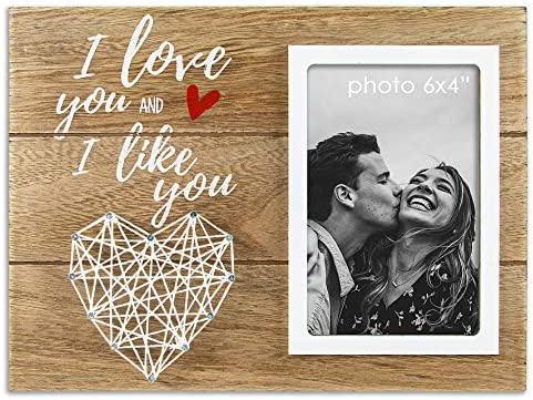 Vilight I Love You I Like You Picture Frame Gifts for Boyfriend Husband and Girlfriend Wife product image