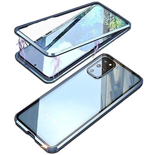 MOSSTAR - Custodia per Samsung Galaxy S20, con supporto magnetico in metallo, a 360 gradi, in vetro temperato, ultra sottile, colore: Rosso