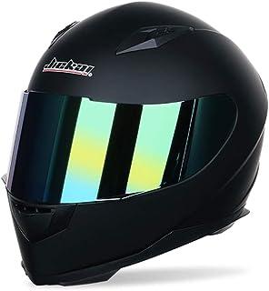 Männer Frauen Universal Full Face Motorradhelm Winter Thermische Antifogging Motorradhelm, Farbe Beschichtet Sicherheit Off Road Helme 53-62 cm…