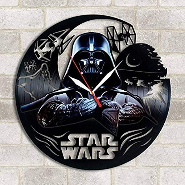 Choma Darth Vader Star Wars Handmade Vinyl Record Wall Clock Get Unique Kitchen Wall Decor Gift Ideas For His And Her Darth Vader Unique Modern Art