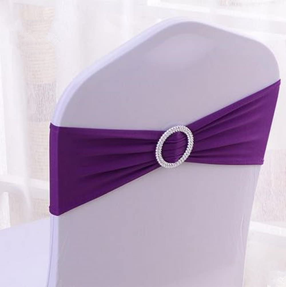 Grace Florist 50pcs Spandex In stock Chair Sash Slider Buckle with Sashes Limited Special Price