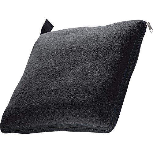 XL Fleecedecke & Kissen in einem ca. 180x120 cm (Schwarz)